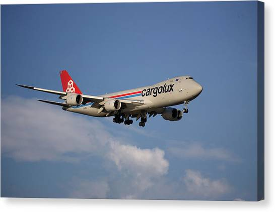 Jet Canvas Print - Cargolux Boeing 747-8r7 4 by Smart Aviation