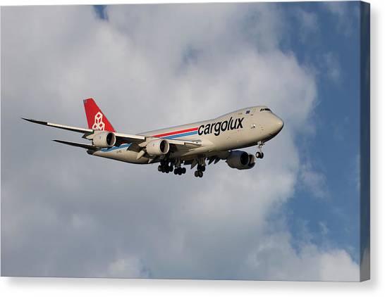 Jet Canvas Print - Cargolux Boeing 747-8r7 5 by Smart Aviation