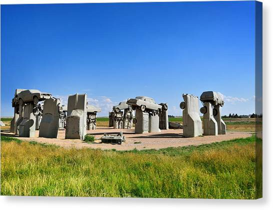 Installation Art Canvas Print - Carhenge by Edwin Verin