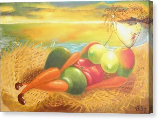 Caribbean Afrodite Canvas Print
