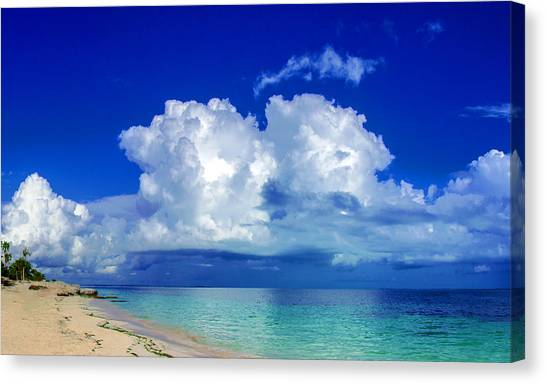 Caribbean Clouds Canvas Print