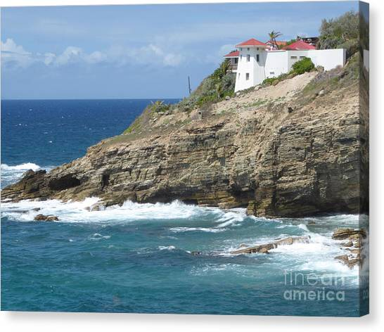 Caribbean Coastal Villa Canvas Print