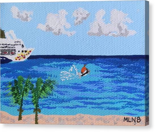 Caribbean Jet Ski Canvas Print