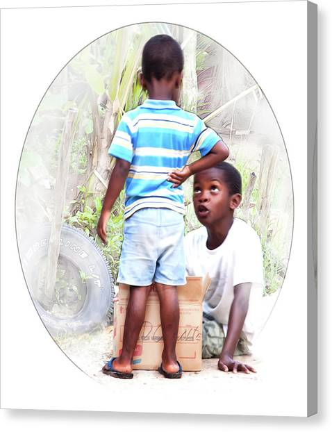 Caribbean Kids Illustration Canvas Print