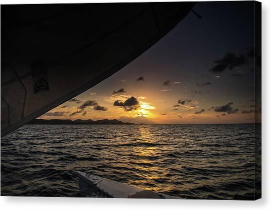 Caribbean Sail St Croix Canvas Print