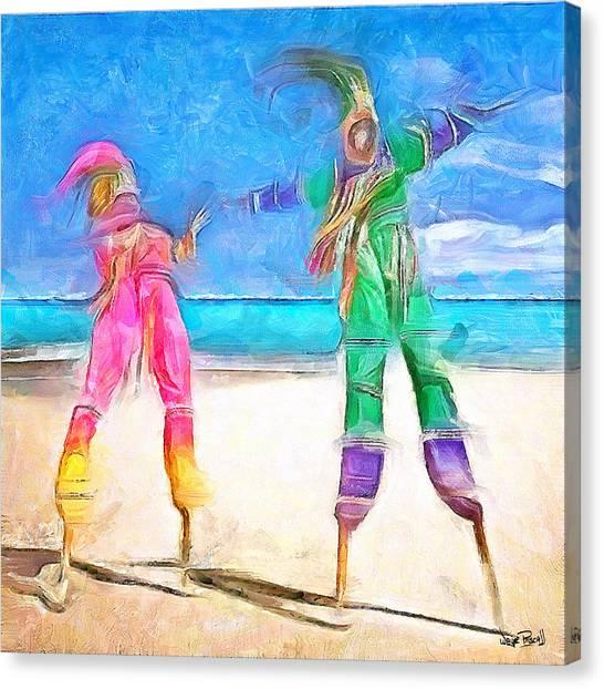 Caribbean Scenes - Moko Jumbie Canvas Print