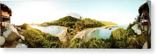 Colombian Canvas Print - Caribbean Sunrise by Michael Weber