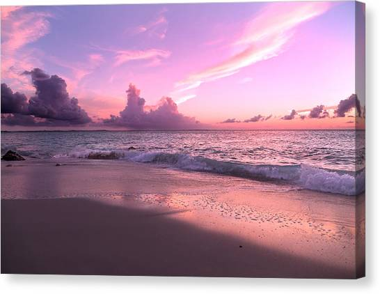 Ocean Sunsets Canvas Print - Caribbean Tranquility  by Betsy Knapp