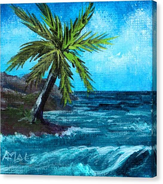 Canvas Print featuring the painting Caribbean Vacation #1 by Anastasiya Malakhova