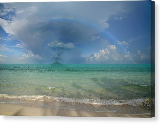 Carribbean Canvas Print - Caribbean Waterspout  by Betsy Knapp