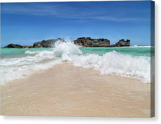Carribbean Canvas Print - Colliding Worlds by Betsy Knapp