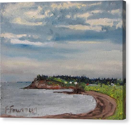Caribou Beach Pictou Ns Canada Canvas Print by Francois Fournier