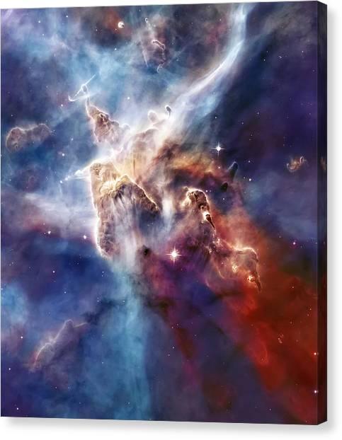 Astrology Canvas Print - Carina Nebula Pillar by Jennifer Rondinelli Reilly - Fine Art Photography