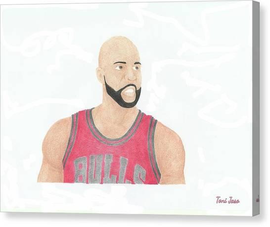 La Lakers Canvas Print - Carlos Boozer by Toni Jaso