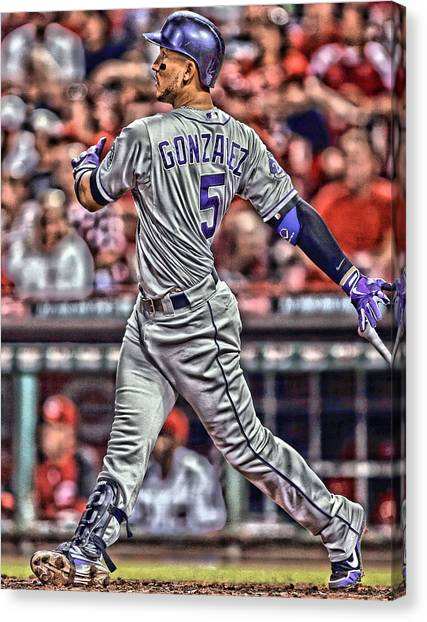 Colorado Rockies Canvas Print - Carlos Gonzalez Colorado Rockies Art 1 by Joe Hamilton