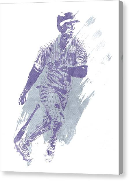 Colorado Rockies Canvas Print - Carlos Gonzalez Colorado Rockies Water Color Art 1 by Joe Hamilton