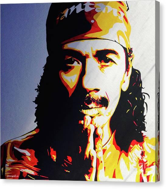 Carlos Santana. Canvas Print