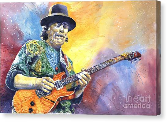 Supplies Canvas Print - Carlos Santana by Yuriy Shevchuk