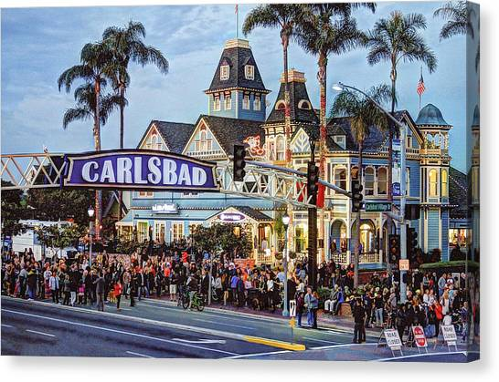 Canvas Print - Carlsbad Village Sign by Ann Patterson