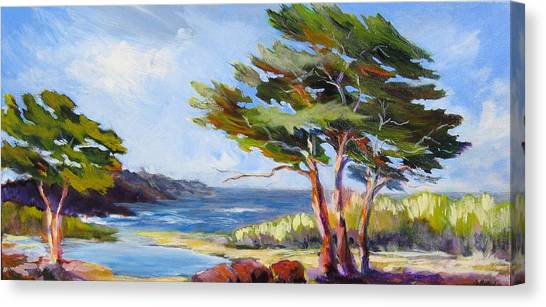 Carmel By The Sea Canvas Print by Barbara Moore