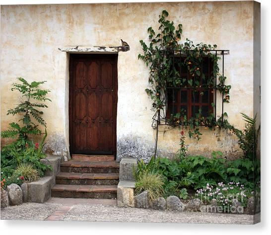 Mission Canvas Print - Carmel Mission Door by Carol Groenen