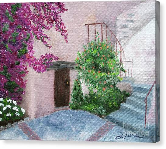 Missions California Canvas Print - Carmel Mission Side Door by Laura Iverson