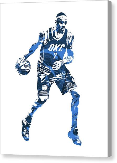 Oklahoma City Thunder Canvas Print - Carmelo Anthony Oklahoma City Thunder 20 by Joe Hamilton