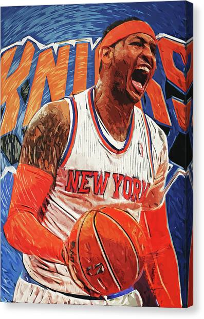 Denver Nuggets Canvas Print - Carmelo Anthony by Zapista