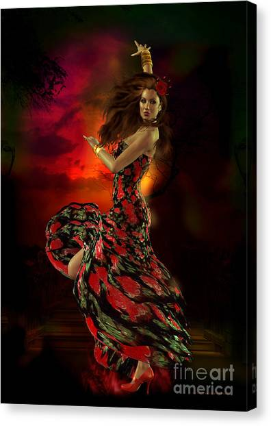 Flamenco Canvas Print - Carmen by Shanina Conway