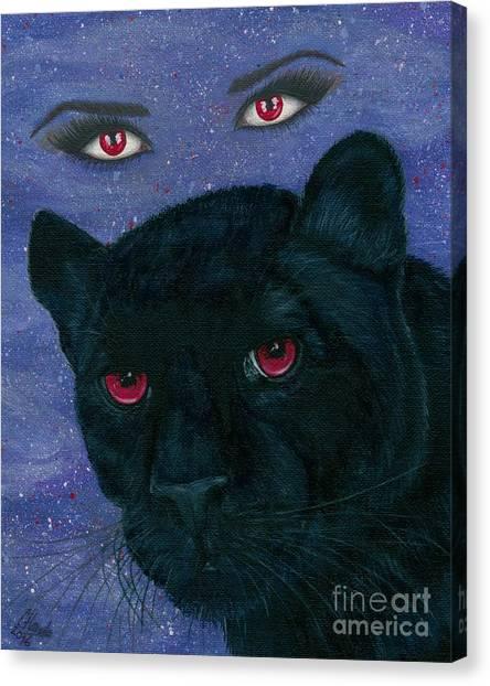 Carmilla - Black Panther Vampire Canvas Print