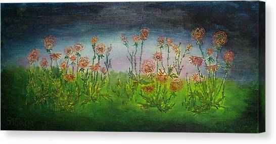 Carnations At Dusk Canvas Print by Jacob Stempky