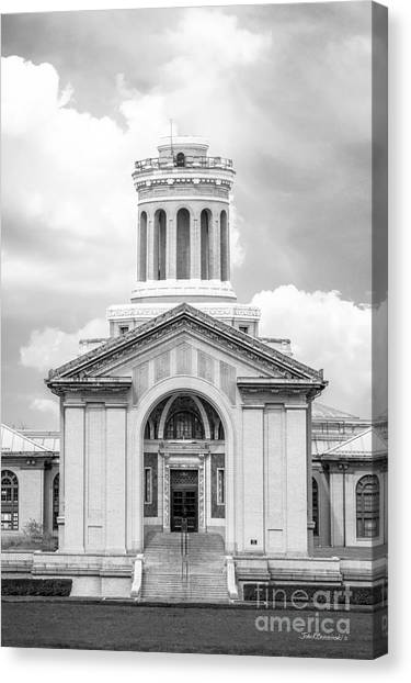Carnegie Mellon University Canvas Print - Carnegie Mellon University Hamerschlag Hall Main  by University Icons