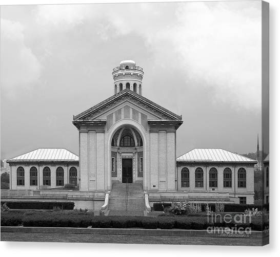 Carnegie Mellon University Canvas Print - Carnegie Mellon University Hamerschlag Hall by University Icons