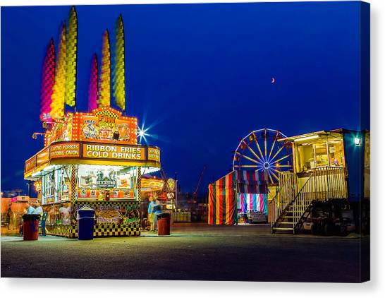 Carnival Glo Canvas Print by Bryan Moore