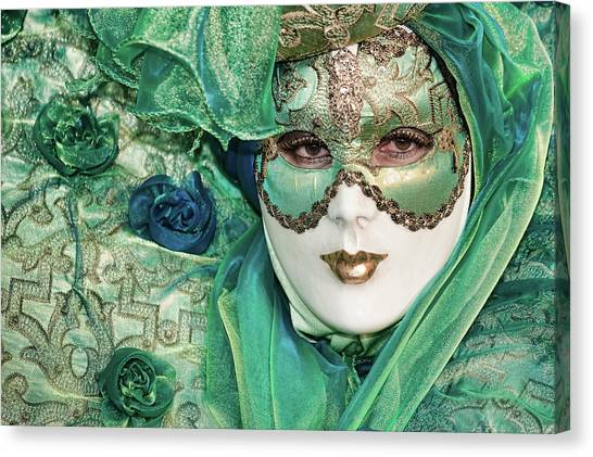 Carnival In Green Canvas Print
