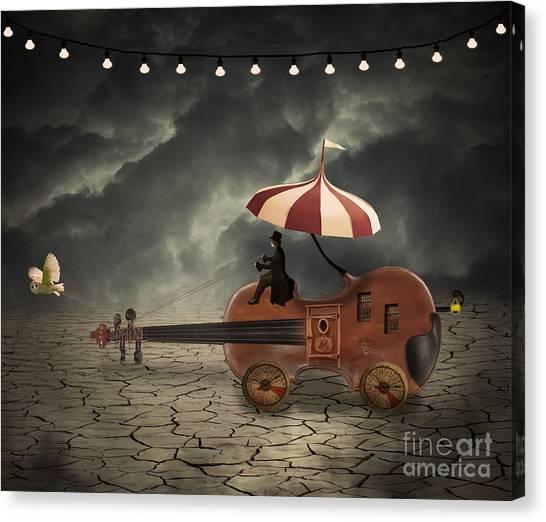Caravan Canvas Print - Mr. Dark by Juli Scalzi