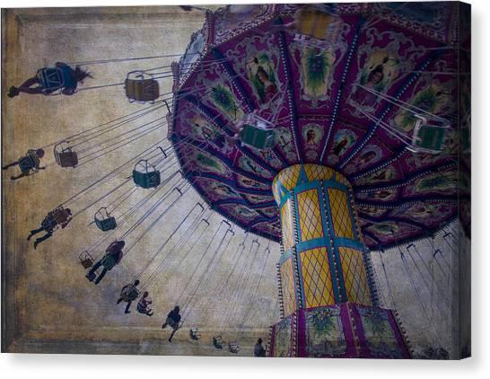 Ferris Wheel Canvas Print - Carnival Ride At The Fair by Garry Gay