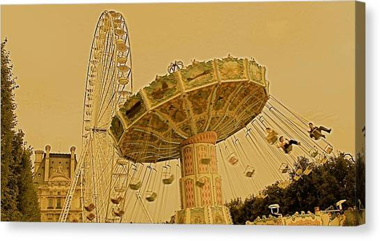 Carnival V Canvas Print by Louise Fahy