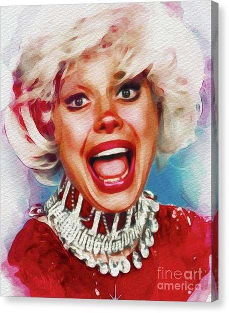 Stardom Canvas Print - Carol Channing, Vintage Entertainer by John Springfield