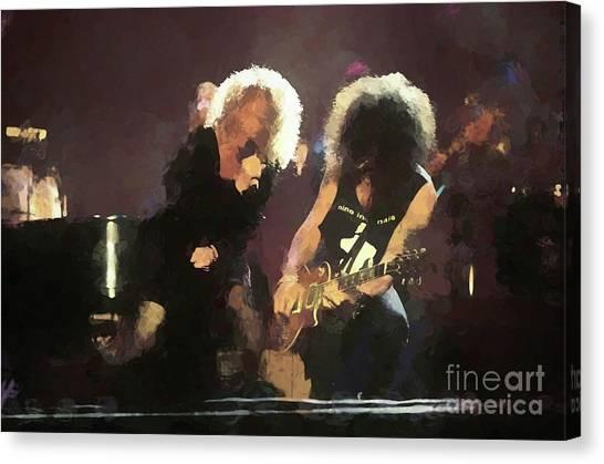 Slash Canvas Print - Carol King And Slash Painting by Concert Photos