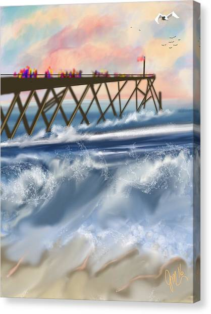 Carolina Beach Canvas Print