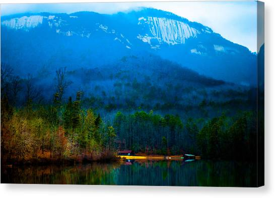 Big South Canvas Print - Carolina Fog by Optical Playground By MP Ray