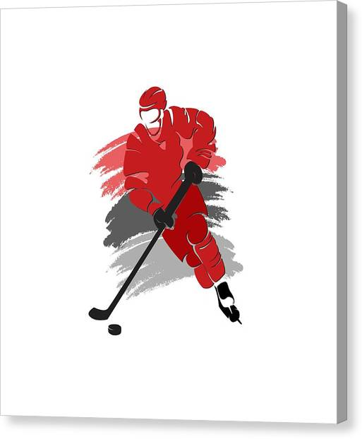 Carolina Hurricanes Canvas Print - Carolina Hurricanes Player Shirt by Joe Hamilton