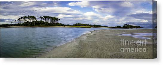 Carolina Inlet At Low Tide Canvas Print