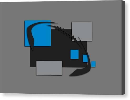 Carolina Panthers Canvas Print - Carolina Panthers Abstract Shirt by Joe Hamilton