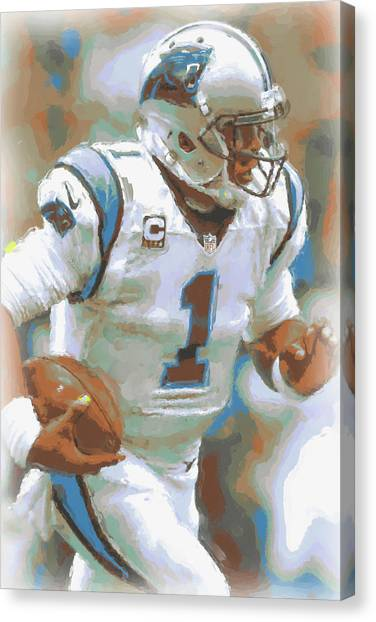 Cam Newton Canvas Print - Carolina Panthers Cam Newton 2 by Joe Hamilton