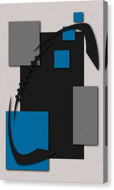 Carolina Panthers Canvas Print - Carolina Panthers Football Art by Joe Hamilton