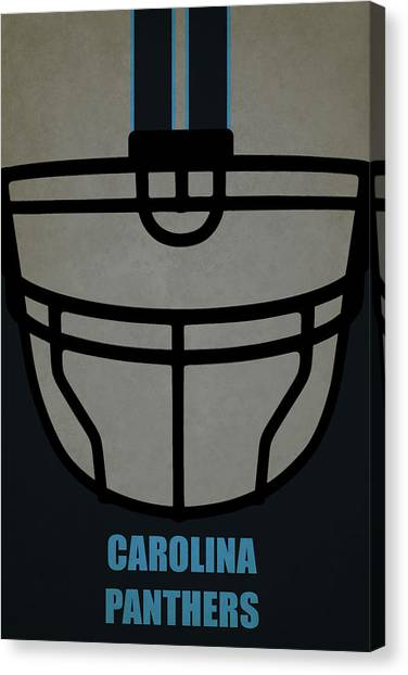Carolina Panthers Canvas Print - Carolina Panthers Helmet Art by Joe Hamilton