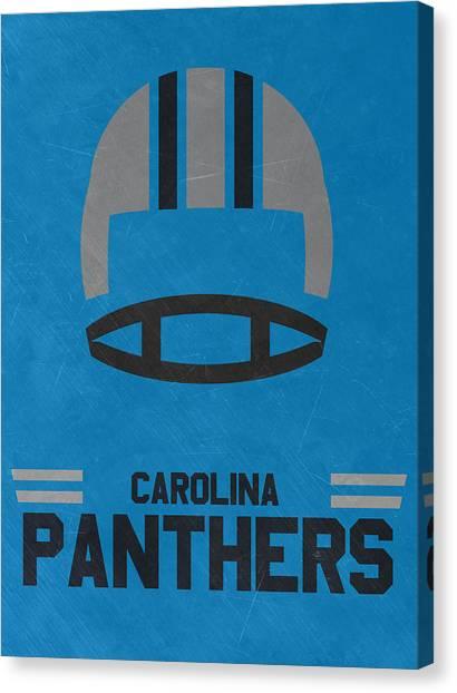 Carolina Panthers Canvas Print - Carolina Panthers Vintage Art by Joe Hamilton