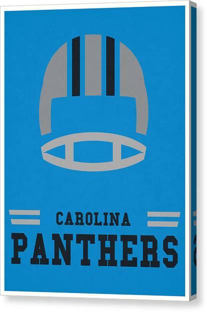 Carolina Panthers Canvas Print - Carolina Panthers Vintage Nfl Art by Joe Hamilton